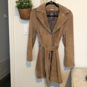 Vintage Wilsons Leather Suede trench coat